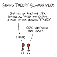 String Theory Drawing by XKCD - Is String Theory Science if it Isn't Falsifiable?